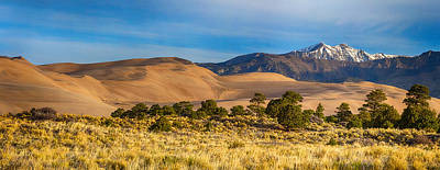 Photograph - Plains - Dunes And Rocky Mountains Panorama by James BO Insogna