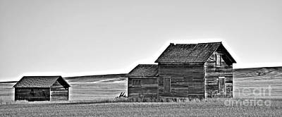 Photograph - Plains Homestead Bw by Chalet Roome-Rigdon