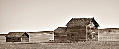 Photograph - Plains Homestead Sepia by Chalet Roome-Rigdon