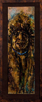 Mixed Media - Plains Indian Chief by Laurie Tietjen