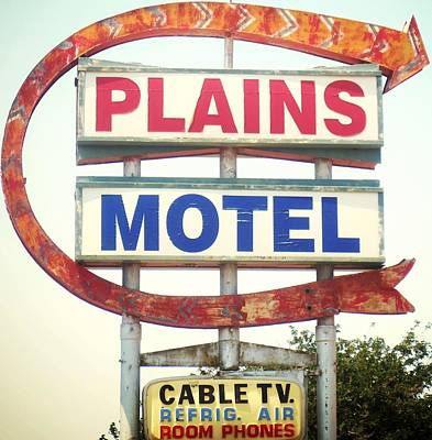 Photograph - Plains Motel by Gia Marie Houck