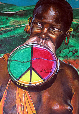 Spool Painting - Plains Of Peace by Andre Ajibade