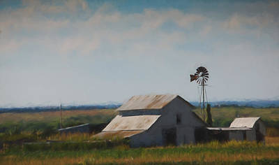 Plains Painted Barn Art Print