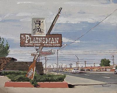 Back Road Painting - Plainsman by Steve Beaumont
