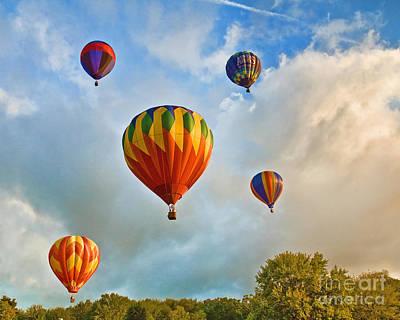 Plainville Balloons 2 Art Print