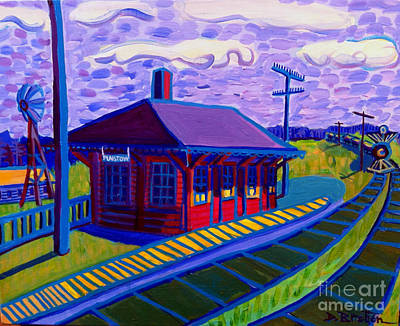Painting - Plaistow Train Station by Debra Bretton Robinson
