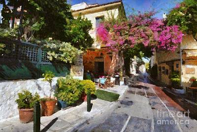 Painting - Plaka In Athens by George Atsametakis