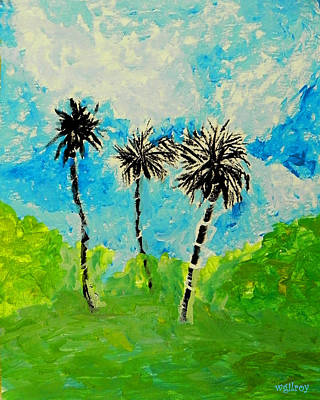 Titusville Painting - Palms by W Gilroy