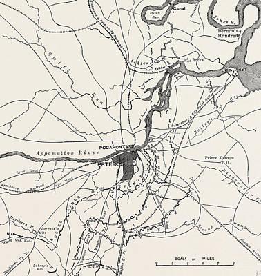 Plan Of Petersburg Art Print