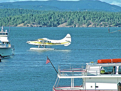 Photograph - Plane Coming Into Friday Harbor On San Juan Island, Washington by Ruth Hager
