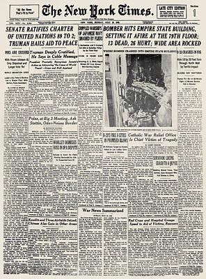 B25 Photograph - Plane Crash, 1945 by Granger
