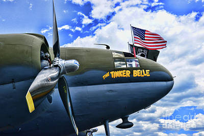 Tinker Bell Photograph - Plane - Curtiss C-46 Commando by Paul Ward