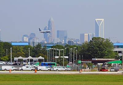 Photograph - Plane Landing In Charlotte by Joseph C Hinson Photography