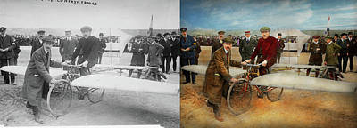 Photograph - Plane - Odd - Easy As Riding A Bike 1912 - Side By Side by Mike Savad