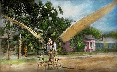 Plane - Odd - The Early Bird 1910 Art Print by Mike Savad