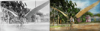 Photograph - Plane - Odd - The Early Bird 1910 - Side By Side by Mike Savad