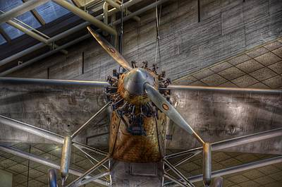 Steampunk Royalty-Free and Rights-Managed Images - Spirit of St Louis Propeller Airplane by Marianna Mills