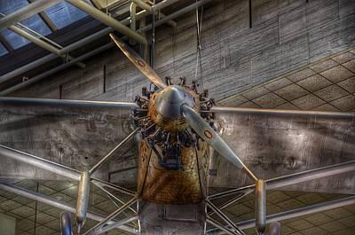 Spirit Of St Louis Propeller Airplane Art Print