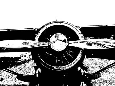 Lino Digital Art - Plane by Susan Parsley