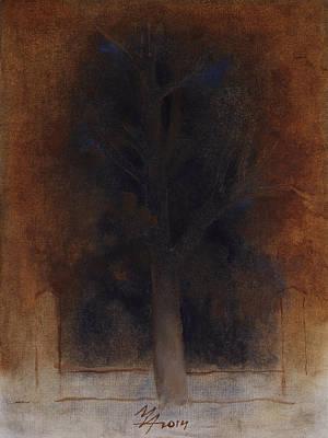 Painting - Plane Tree Icon by Attila Meszlenyi