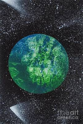 Galaxy Fusion Painting - Planet Comet  by Kylah Fountain
