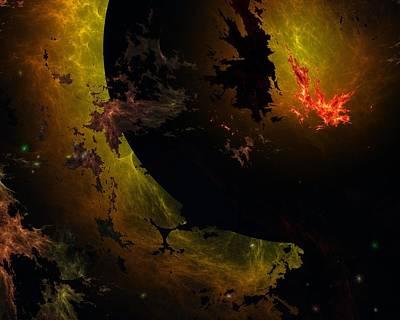 Digital Art - Planet Death by David Lane