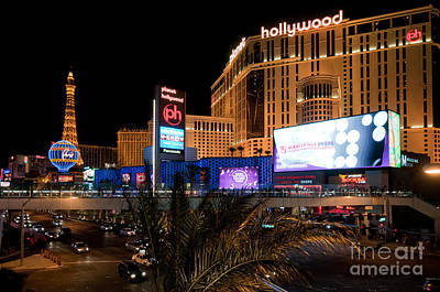 Night Photograph - Planet Hollywood Hotel by Andy Smy