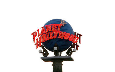 Photograph - Planet Hollywood Sign Vegas by Marilyn Hunt
