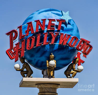 Photograph - Planet Hollywood by Steven Parker