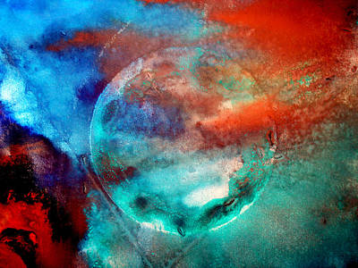 Planet In Galaxy Andromeda Art Print by Sumit Mehndiratta