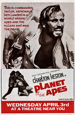 1960s Poster Art Photograph - Planet Of The Apes, Top Charlton by Everett