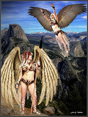 Photograph - Planet Of The Hawk Women by Jon Volden