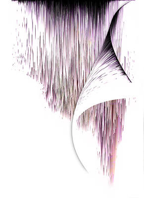 Digital Art - Planet Pixel Turn The Page Pink by Christina VanGinkel