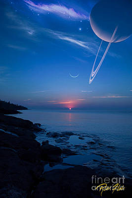 Photograph - Planet Rise Over The Big Lake by Rikk Flohr