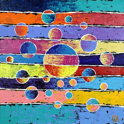 Jeremy Painting - Planet System by Jeremy Aiyadurai