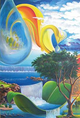 Painting - Planet Water - Leomariano by Leomariano artist BRASIL