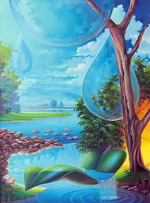 Painting - Planeta Agua by Leomariano artist BRASIL