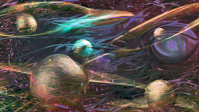 Digital Art - Planetary Chaos by Linda Sannuti