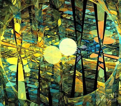Digital Art - Planetary Ellipses by Kim Sy Ok