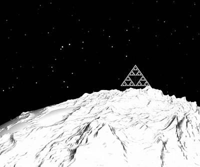 Digital Art - Planetary Mountain by GuoJun Pan