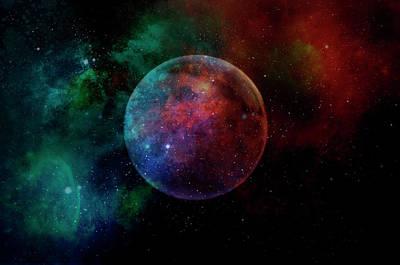 Painting - Planetary Soul Andromeda by Christina VanGinkel
