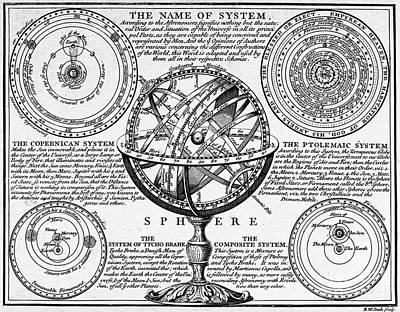 Capella Photograph - Planetary Systems And Armillary Sphere by Wellcome Images