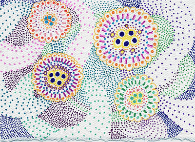 Sharpie Drawing - Planets And Orbits by Leslie Genser
