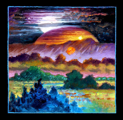 Painting - Planets Image Three by John Lautermilch