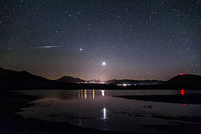 Nightsky Photograph - Planets Over Mammoth by Cat Connor