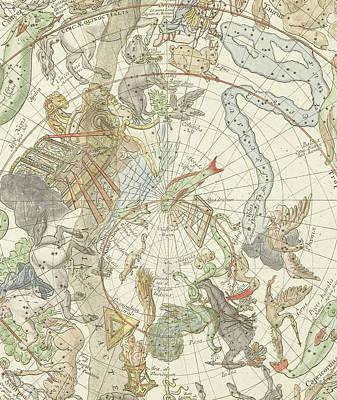 Saturn Painting - Planisphaerii Coelestis Hemisphaerium Meridionale by Carel Allard