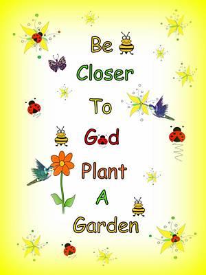 Digital Art - Plant A Garden Yellow by Kathleen Sartoris