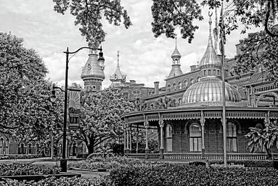 Photograph - Plant Hall University Of Tampa  Bw by HH Photography of Florida