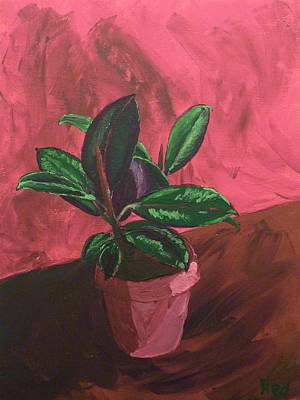 Plant In Ceramic Pot Art Print