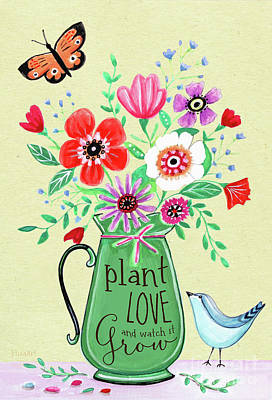 Painting - Plant Love And Watch It Grow by Elizabeth Robinette Tyndall